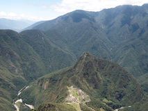 Machu Picchu view from Machu Picchu mountain Royalty Free Stock Photo