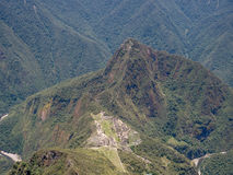 Machu Picchu view from Machu Picchu mountain Stock Images