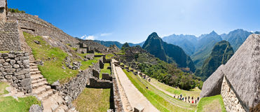 Machu Picchu. View on the Machu Picchu mountain from within the old town Royalty Free Stock Photo