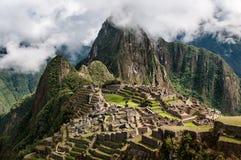 Machu Picchu Ville perdue d'Inkas en montagnes du Pérou Photo stock