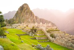 Machu Picchu, ville perdue des Inca peru photo stock