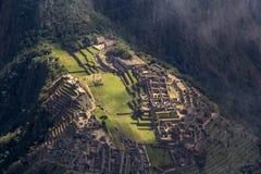 Machu Picchu Visión desde la montaña de Machu Picchu Imagen de archivo