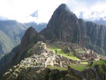 Machu Picchu vom Abdeckung-Haus stockfotos