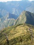 Machu Picchu von hinten Lizenzfreie Stockfotos