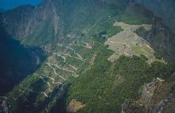 Machu Picchu von oben lizenzfreies stockfoto