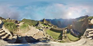 Machu Picchu - VR 360 stock video footage