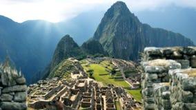 Machu Picchu - vue par derrière le lama illustration libre de droits