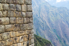 Machu Picchu Wall Closeup Royalty Free Stock Image