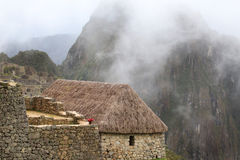 Machu Picchu warden's house Stock Images