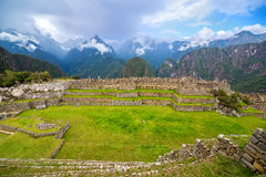 Machu Picchu Wide Angle Royalty Free Stock Photos