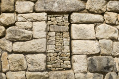 Machu Picchu window Royalty Free Stock Photos