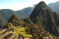 Machu Picchu World Heritage archeological site Stock Image