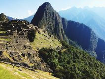 Machu Picchu, worldwonder Inca City Stockbilder