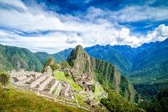 Machu Picchu, Zeven is van de wereld, Perà ¹ benieuwd Stock Fotografie