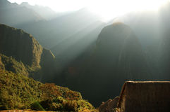 Sunrise from Machu Piccu  Stock Image
