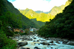 Machu pichu村庄 图库摄影