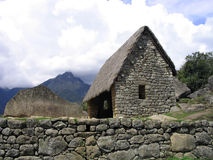 Machu pichu. The wonderful view of the archeological site of machu pichu stock photos