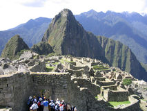Machu pichu. The wonderful view of the archeological site of machu pichu royalty free stock images