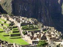 Machu pichu. The wonderful view of the archeological site of machu pichu royalty free stock photo