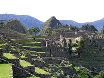 Machu pichu. The wonderful view of the archeological site of machu pichu stock photo