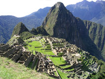 Machu pichu. The wonderful view of the archeological site of machu pichu Royalty Free Stock Photography