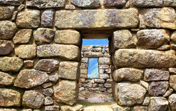 Machu Pichu ancient ruins. Detail. Royalty Free Stock Image