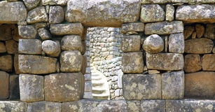 Machu Pichu ancient ruins. Detail. Stock Photos