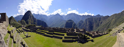 Machu Pichu avec Huayna Picchu au Pérou Image libre de droits