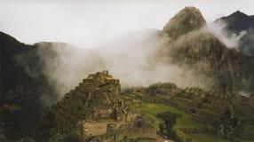 Machu pichu cloud city peru. Ancient incan city of machu pichu high in the andes stock photography