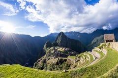 Machu Pichu i Peru royaltyfri fotografi