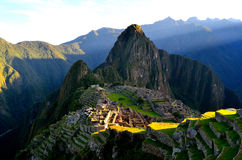 Machu pichu l. Machu pichu amazing view from the top royalty free stock images