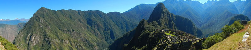 Machu Pichu Landscape. Mountain and landscape of Machu Pichu sanctuary in Peru Royalty Free Stock Photos