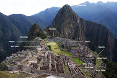 Machu pichu map royalty free stock photography