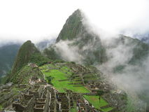 Machu Pichu Mist. Machu Pichu in the mist royalty free stock photo