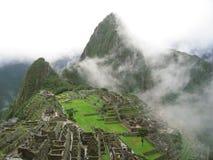 Machu Pichu Nebel Lizenzfreies Stockfoto