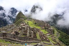 Machu Pichu. Perù america sud history inca cuzco lama  green Stock Photo