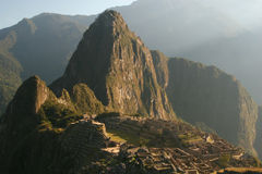 Machu Pichu-Peru. Sunrise at machu pichu(ancient inca ruins) ,peru Royalty Free Stock Photography