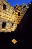Inside Machu Picchu from Peru. A shot from within a stone building in Machu Picchu, Peru Royalty Free Stock Photos