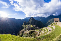 Machu Pichu in Peru royalty free stock photography