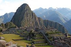Machu pichu ruins stock photography