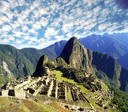 Machu pichu. Ruins overview  in  Peru Royalty Free Stock Image
