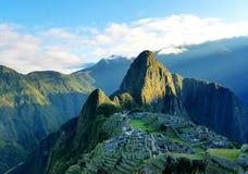 Machu pichu. Run rise landscape nature ancient inca peru Royalty Free Stock Photo