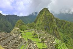 Machu Pichu unesco heritage Stock Photography
