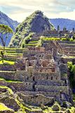 Machu Pichu World Heritage Site, Peru. The exact composition of stones World Heritage Machu Picchu in Peru royalty free stock images