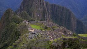Machu Pichu y la aventura que consigue allí almacen de video