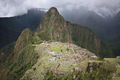 Machu Piucchu in Peru stock afbeelding