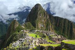 Machu w Peru Picchu Zdjęcia Royalty Free