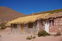Machuca在阿塔卡马沙漠,智利 库存图片