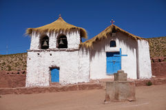Machuca的教会,阿塔卡马,智利 库存图片