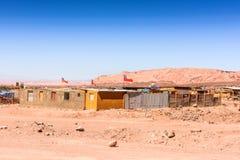 Atacama desert, Chile. MACHUCA EL TATIO, CHILE - NOV 3, 2014: Machuca el Tatio, a town in the Atacama desert whice covers 105,000 square kilometres royalty free stock photos